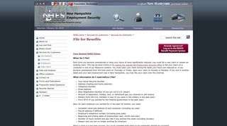 File for Benefits - NH Employment Security - NH.gov
