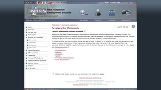 Services for Claimants - NH Employment Security - NH.gov