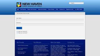 Login - New Haven Magnet Schools