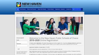 New Haven Public Schools of Choice - Online Application