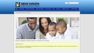 Apply Online - New Haven Magnet Schools