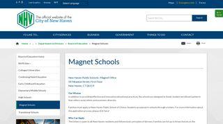 New Haven, CT - Magnet Schools