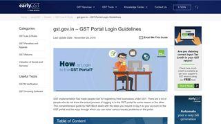 GST Portal Login | How to Login on gst.gov.in in 4 Simple Steps