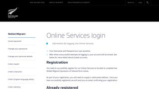 Online Services login | Immigration New Zealand