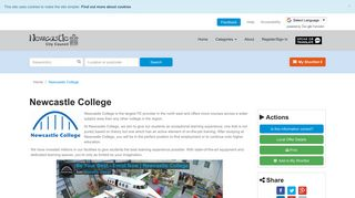 Newcastle College | Newcastle Support Directory