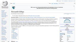 Newcastle College - Wikipedia