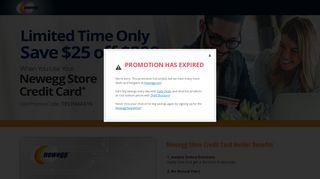 Newegg Store Credit Card $25 Off $200 Offer   Newegg.com