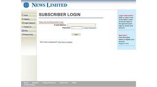 Subscriber Login