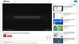 NewWave Communications Email Troubleshooting - YouTube