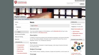 Nexis — University of Leicester
