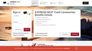 EXPRESS NEXT Credit Card - Manage your account - Comenity