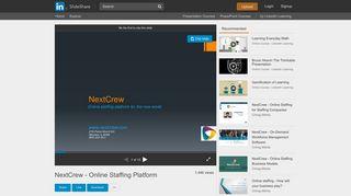 NextCrew - Online Staffing Platform - SlideShare