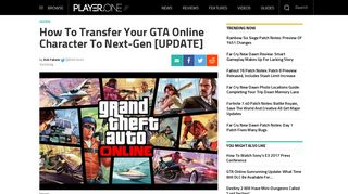 How To Transfer Your GTA Online Character To Next-Gen [UPDATE ...