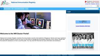 HPB-NIR - National Immunisation Registry - Health Promotion Board