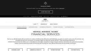 Car Loans and Finance Services   Infiniti Cars Australia