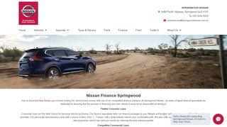 Nissan Finance Springwood   Springwood Nissan