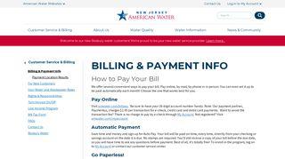 New Jersey > Customer Service & Billing > Billing ... - American Water