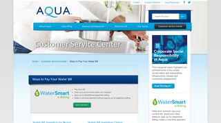 Ways to Pay Your Water Bill Online: Aqua Bill Pay - Aqua America