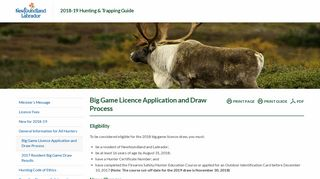 Big Game Licence Application and Draw Process - 2018-19 Hunting ...
