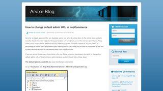 How to change default admin URL in nopCommerce | Arvixe Blog