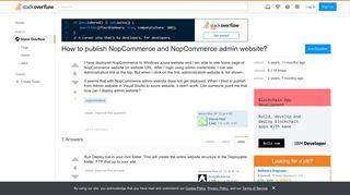 How to publish NopCommerce and NopCommerce admin website ...
