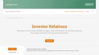 Investor relations - Nordjyske Bank