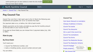 Pay Council Tax - North Ayrshire Council