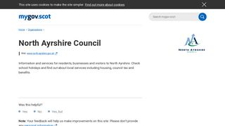 North Ayrshire Council - mygov.scot