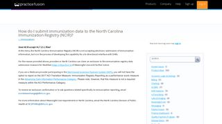 How do I submit immunization data to the North Carolina Immunization ...