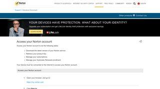 Access your Norton account - Norton Support