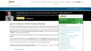 Log in to and log out of Norton Password Manager - Norton Support