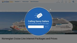 Norwegian Cruise Line Internet Packages and Prices - Cruise Critic