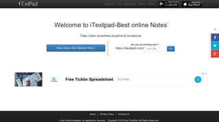 Free Online Notepad | no login needed