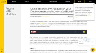 Using private NPM Modules in your Development and Automated ...