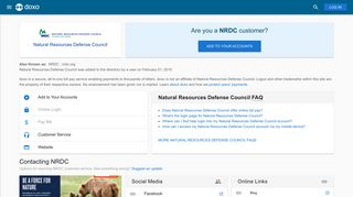 Natural Resources Defense Council (NRDC): Login, Bill Pay ... - Doxo