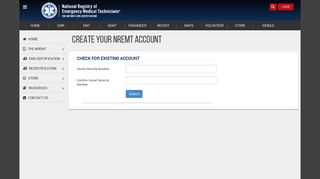 Create NREMT Account