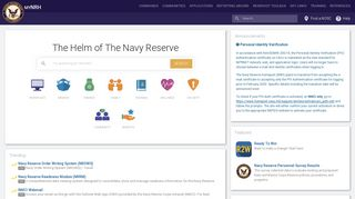 Navy Reserve Homeport: myNRH