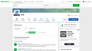 NTB Employee Benefits and Perks | Glassdoor