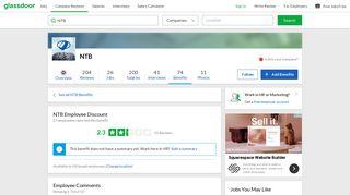 NTB Employee Benefit: Employee Discount | Glassdoor