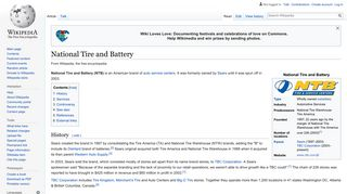 National Tire and Battery - Wikipedia