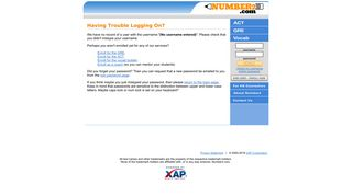 Log on to an existing account - Number2.com :: Free Online Test Prep