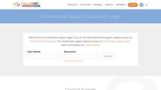 Commercial Support Customer Login | CollabNet VersionOne
