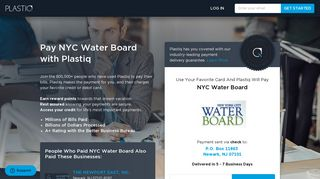 Pay NYC Water Board with Plastiq