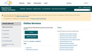 Online Services - Department of Taxation and Finance - NY.gov
