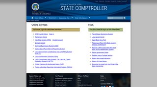 Office of the New York State Comptroller - Online Services