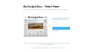 Today's Paper - The New York Times