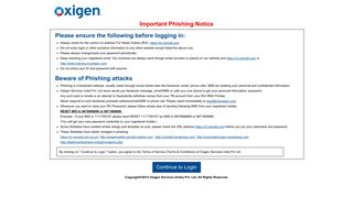 Important Notice Regarding Phishing websites for Retail Outlet