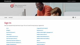 Sign In | Ohio Assessments for Educators (OAE) Expanded Study ...