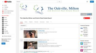 The Oakville, Milton and District Real Estate Board - YouTube