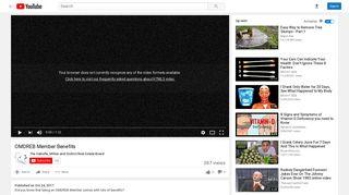 OMDREB Member Benefits - YouTube
